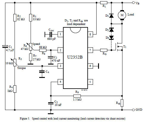 Motor on ac motor control circuit