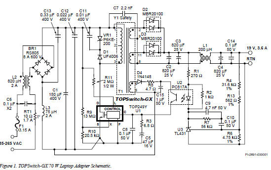 Laptop Power Supply Adaptor Circuit