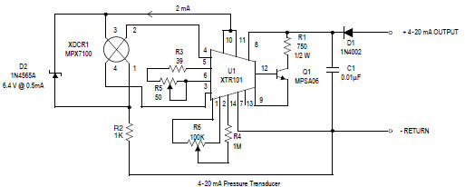 pressure tranducer sensor