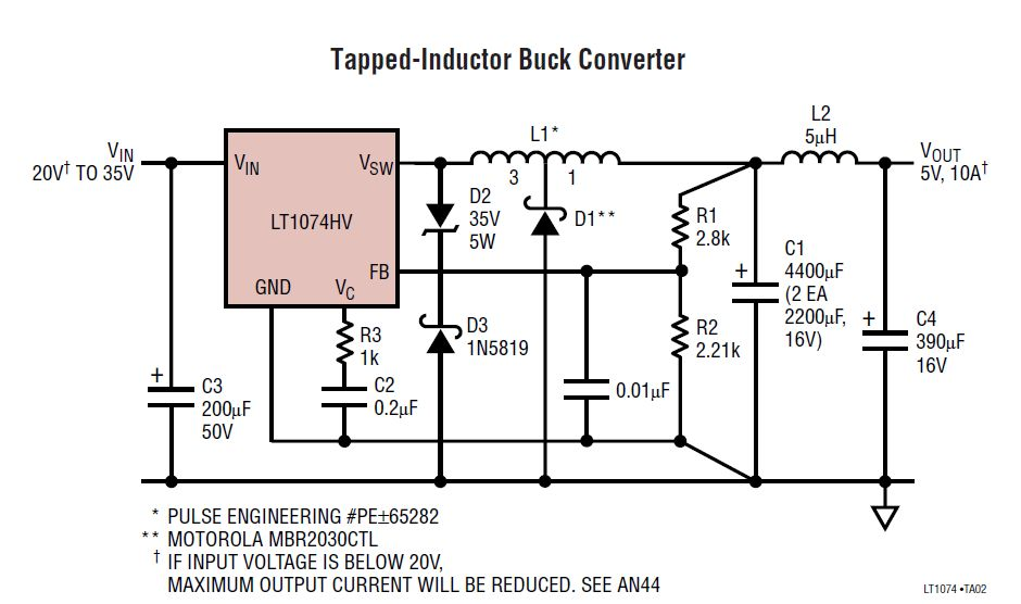 24V To 5V 10A Power Supply Converter Schematic Diagram on external voltage regulator wiring diagram