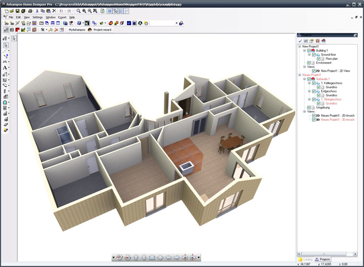 Online 3d home design software from autodesk create floor Online architecture design program