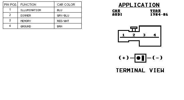 Audi Car Radio Stereo Audio Wiring Diagram Autoradio Connector