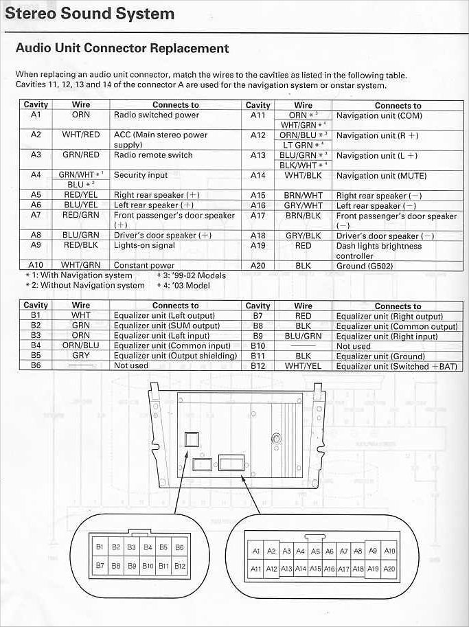 Acura 2002 TL car stereo wiring diagram harness acura stereo wiring diagram acura wiring diagrams instruction nissan pulsar n16 stereo wiring diagram at soozxer.org