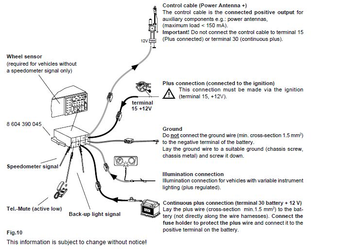 Blaupunkt TravelPilot RNS 149 installation instructions vw car radio stereo audio wiring diagram autoradio connector wire toyota radio wiring diagrams color code at virtualis.co