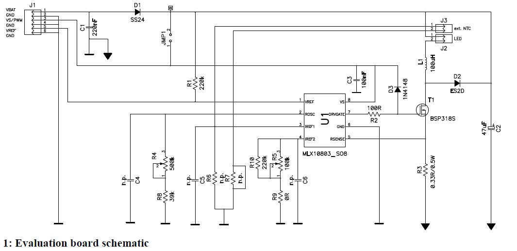 Car Led Light Driver Circuit Diagram