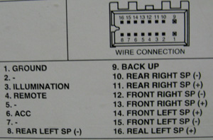 daewoo car radio stereo audio wiring diagram autoradio connector daewoo agc 6100