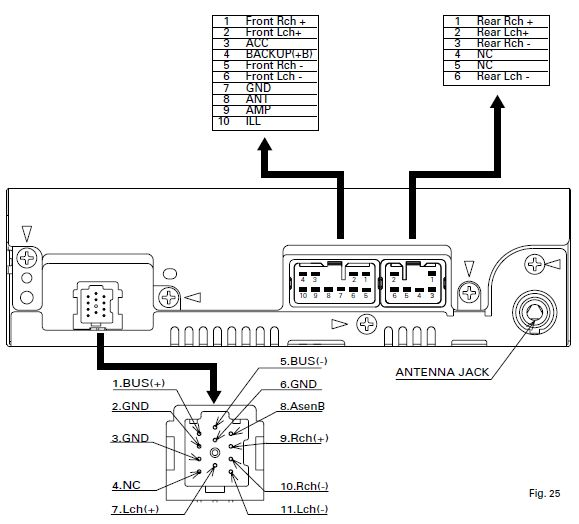 Daihatsu Pioneer KEH P3086ZY radio wiring connector daihatsu car radio stereo audio wiring diagram autoradio connector panasonic car cd player wiring diagram at mifinder.co