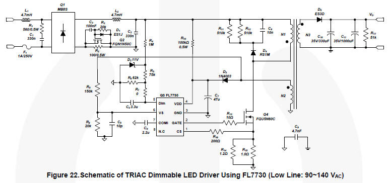 dimmer for led circuit diagram