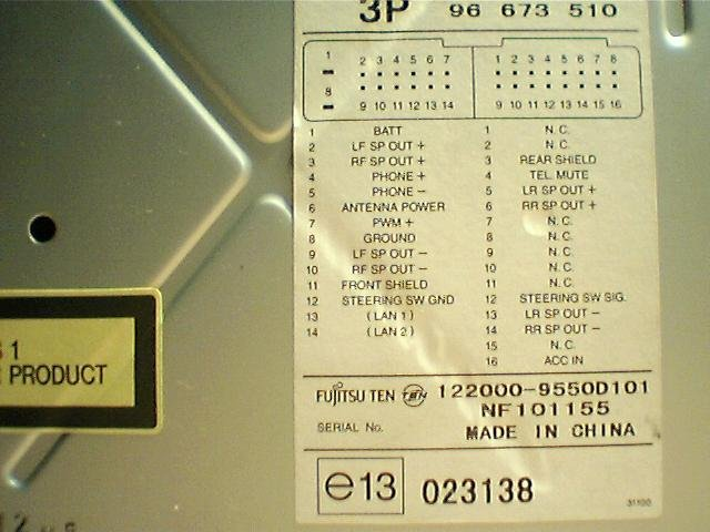 Fujitsu Ten on speaker wiring diagram