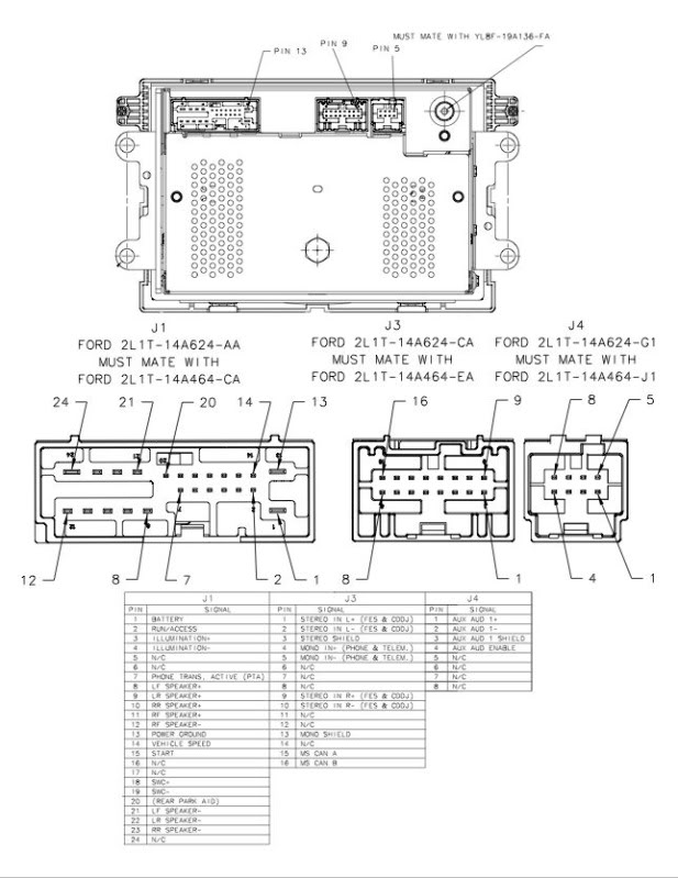 Ford 6CD mustang 05 wiring diagram connector pinout ford car radio stereo audio wiring diagram autoradio connector  at bayanpartner.co