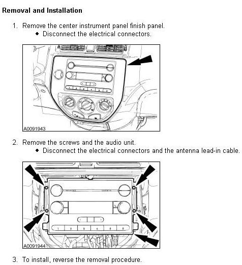Ford Focus Stereo Removal Installation on 1994 Ford F 150 Wiring Diagram