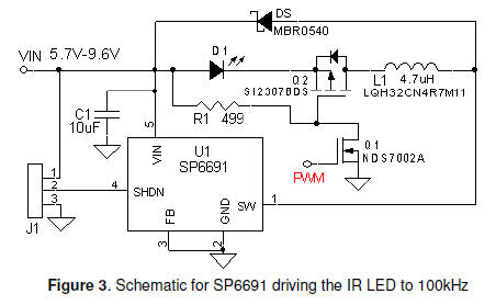 ir infrared led circuit diagram diagram rh tehnomagazin com IR Remote Receiver Circuit IR Receiver Schematic