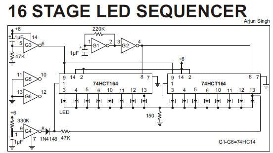 led chaser cirucit diagram rh tehnomagazin com LED Chaser Schematic LED Chaser Schematic