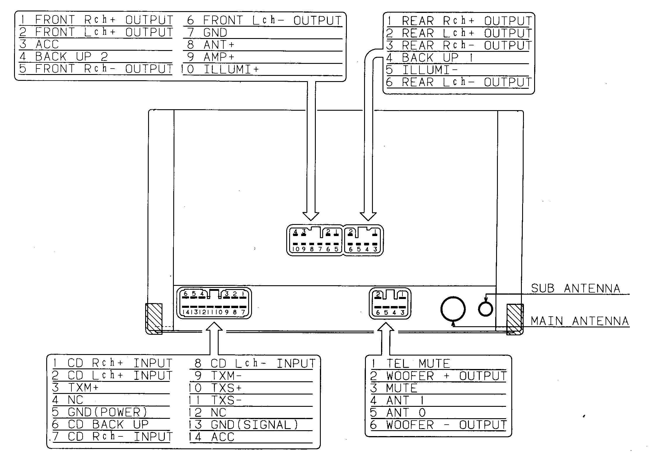 Lexus Car Radio Stereo Audio Wiring Diagram Autoradio Connector Wire Series Speaker Installation Schematic Schema Esquema De Conexiones Stecker Konektor Connecteur Cable