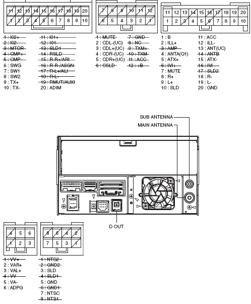 Lexus P1505 Pioneer FX MG4807DV car stereo wiring diagram connector pinout pioneer avh 290bt wiring diagram avh 290bt rear connections pioneer avh x3500bhs wiring diagram at gsmx.co