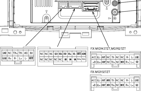 Lexus P3930 Pioneer FX MG9437ZT car stereo wiring diagram connector pinout pioneer car radio stereo audio wiring diagram autoradio connector pioneer dxt x4869bt wiring diagram at bakdesigns.co