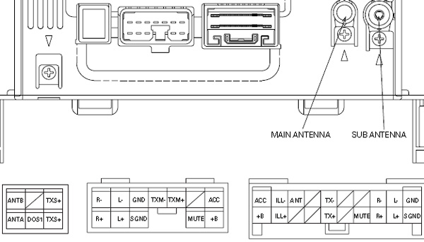 Lexus P6813 PIONEER FX MG8217ZT car stereo wiring diagram connector pinout toyota 86120 wiring diagram 1999 toyota camry speaker schematic toyota tundra radio wiring diagram at gsmportal.co