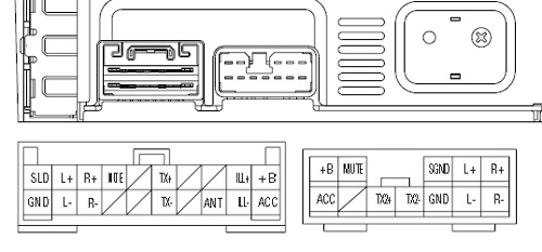... Lexus Pioneer KEX M8206 car stereo wiring diagram connector pinout 2 pioneer car radio stereo audio