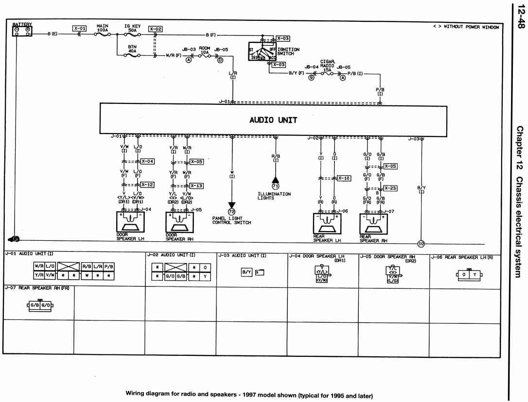 mazda car radio stereo audio wiring diagram autoradio ... mazda protege stereo wiring diagrams color coded