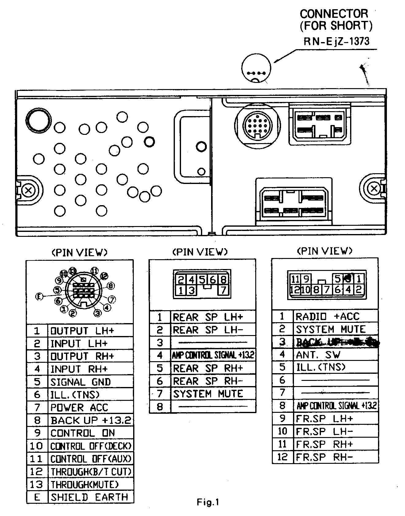 MAZDA Car Radio Wiring Connector on 2001 Mazda 626 Radio Wiring Diagram