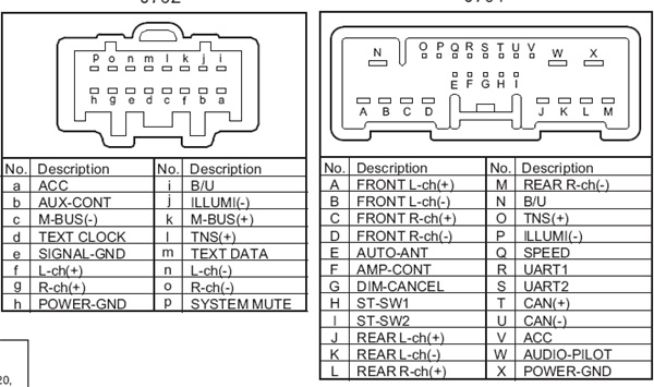 Mazda Car Radio Wiring Connector on clarion double din wiring diagram