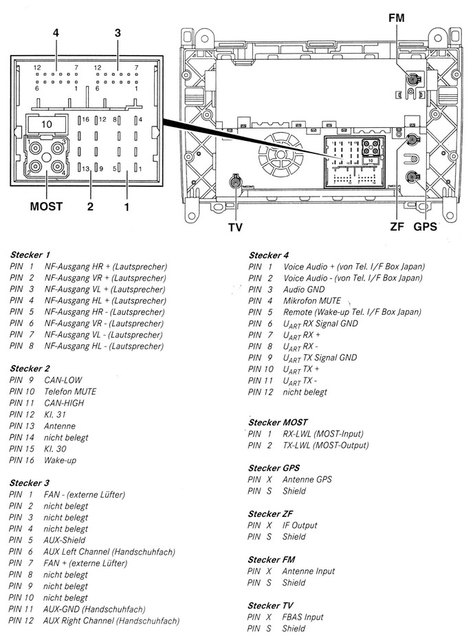 Mercedes Benz W245 Comand car stereo wiring diagram connector pinout harness mercedes car radio stereo audio wiring diagram autoradio connector  at mifinder.co