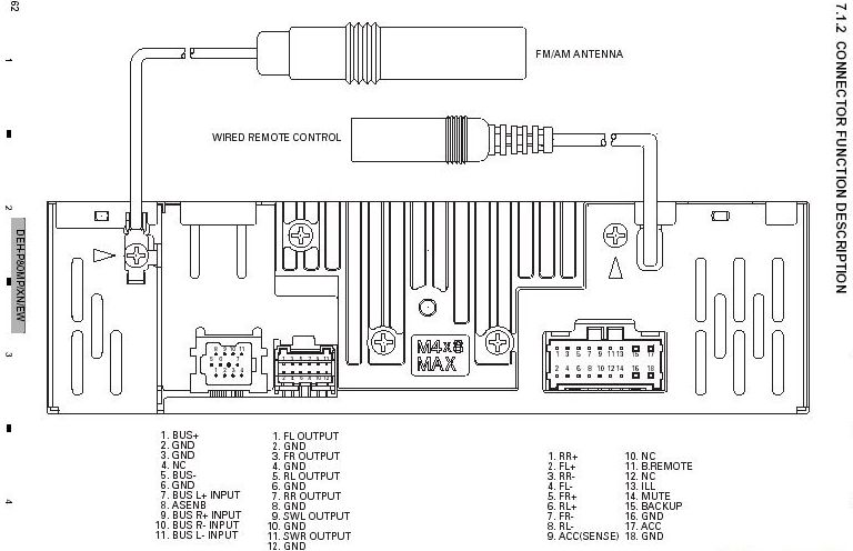 PIONEER Car Radio Wiring Connector on pioneer deh 12 wiring diagram