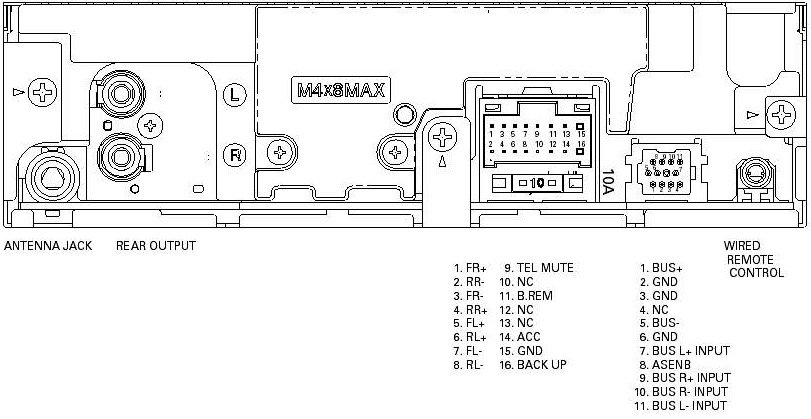 Wiring Diagram For A Pioneer Car Radio : Pioneer car radio wiring diagram free