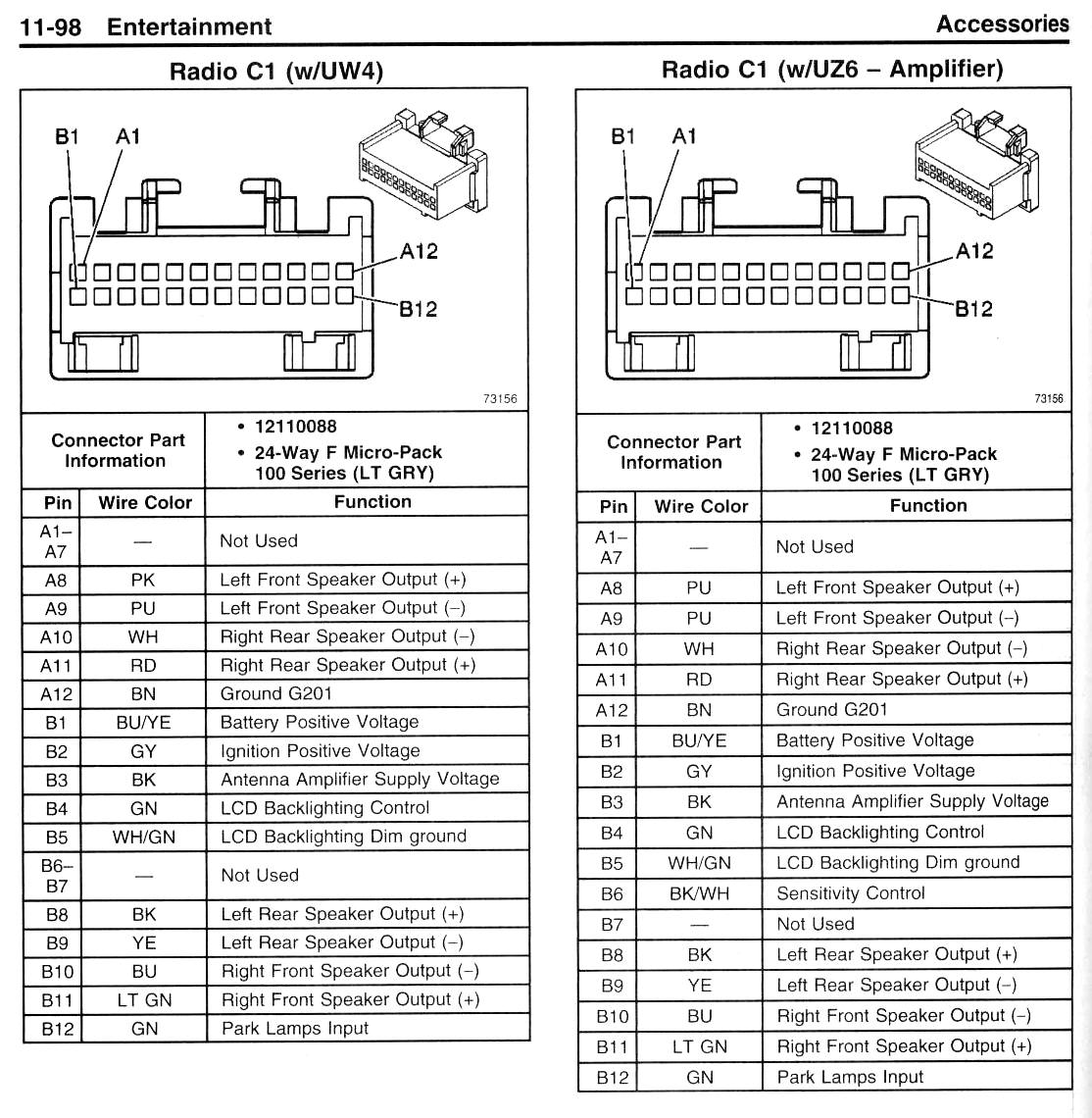 Pontiac Vibe Stereo Wiring Connector on 1999 Malibu Engine Diagram