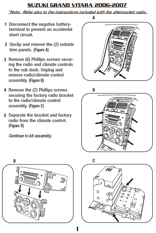 Suzuki Grand Vitara 2006 2007 stereo removal installation suzuki car radio stereo audio wiring diagram autoradio connector suzuki samurai radio wiring diagram at soozxer.org