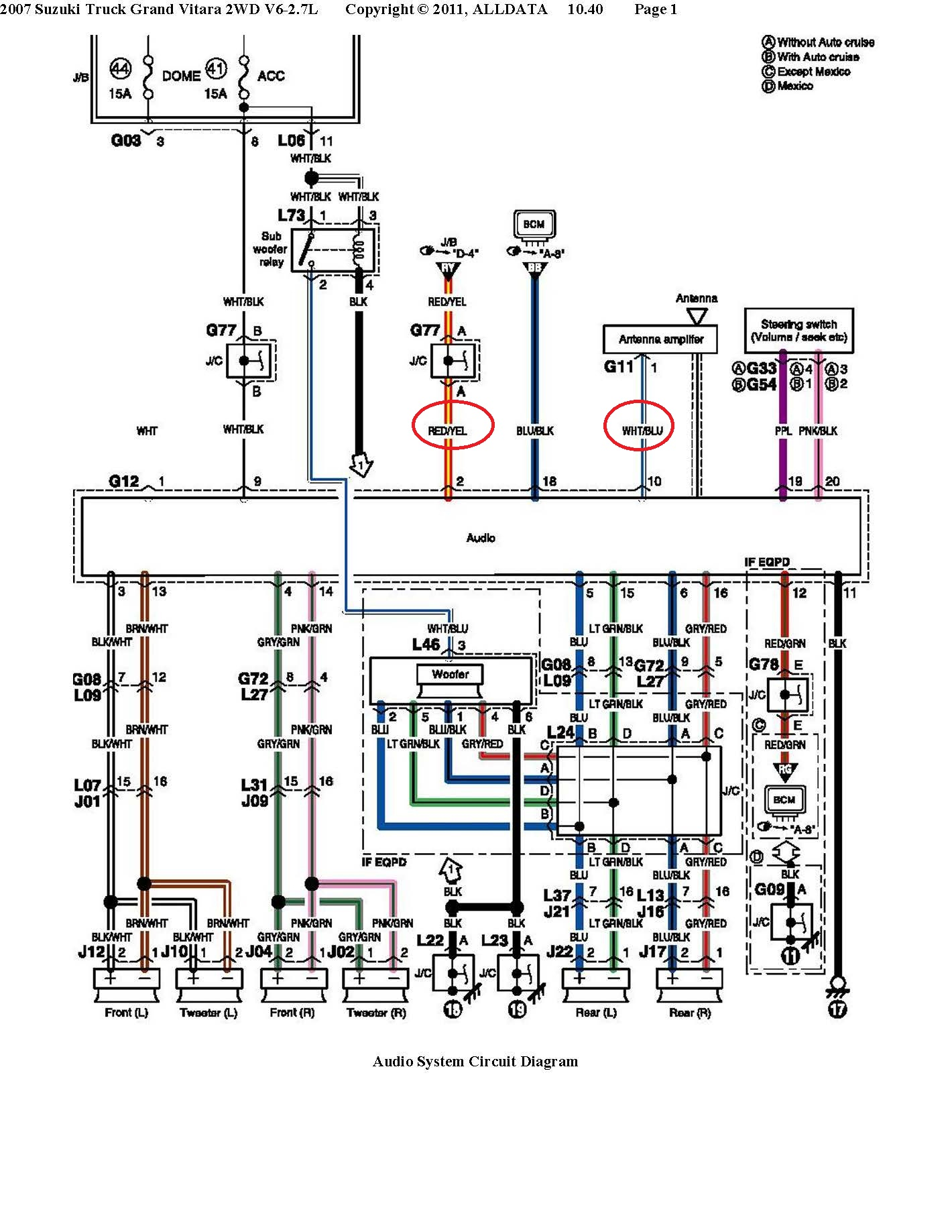 Suzuki Car Radio Stereo Audio Wiring Diagram Autoradio Connector Speaker Jack Connection Wire Installation Schematic Schema Esquema De Conexiones Stecker Konektor Connecteur Cable