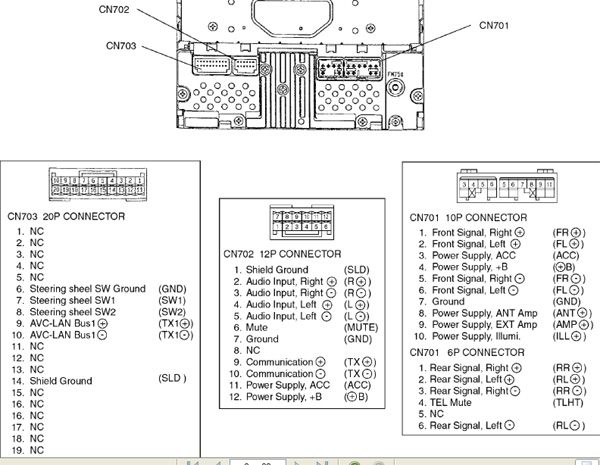 toyota car radio stereo audio wiring diagram autoradio connector toyota wh8406 toyota car stereo wiring diagram