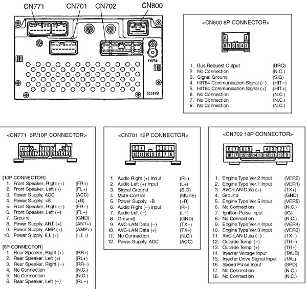 toyota car radio stereo audio wiring diagram autoradio connector wire installation schematic schema esquema de conexiones stecker konr connecteur cable