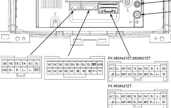 TOYOTA Car Radio Stereo Audio Wiring Diagram Autoradio connector wire installation schematic schema esquema de conexiones stecker konektor connecteur cable ...
