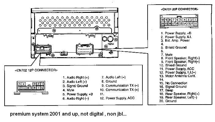 Toyota Celica car stereo wiring diagram harness pinout connector 2 toyota 4runner wire 2003 jbl diagram diagram wiring diagrams for 2001 cadillac deville factory amp wiring diagram at gsmx.co