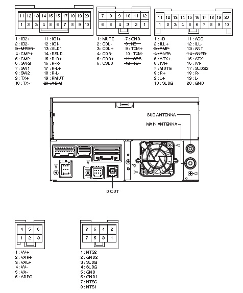 Toyota P6502 DVZ MG8077ZT PIONEER Land Cruser car stereo wiring diagram harness pinout connector toyota car radio stereo audio wiring diagram autoradio connector Toyota Wiring Diagrams Color Code at mifinder.co