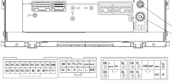 Toyota P7809 Pioneer FH M8527ZT car stereo wiring diagram harness pinout connector toyota car radio stereo audio wiring diagram autoradio connector pioneer wiring diagram for car stereo at aneh.co