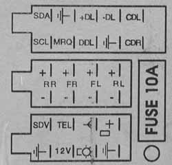 OPEL Car Radio Wiring Connector on panasonic wiring diagram