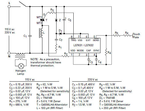 halogen lamp dimmer schematic