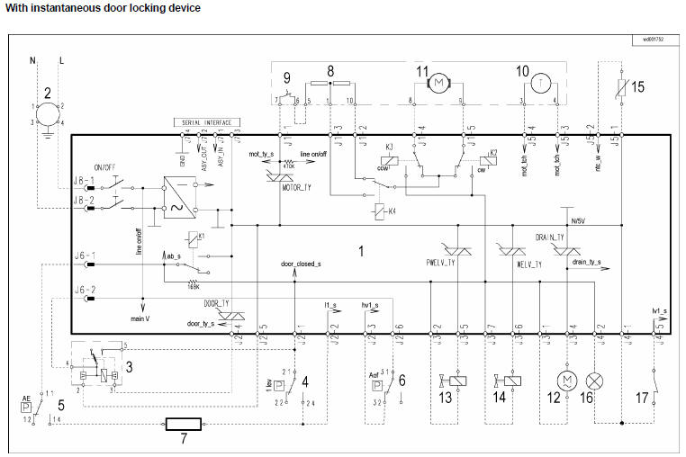 Zanussi Electrolux Washing Machine Wiring Diagram Service