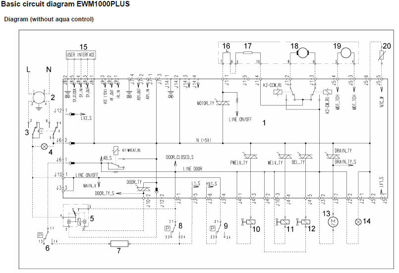 Zanussi Washing Machine Wiring Diagram Service Manual Error Code Circuit Schematic Schema Repair
