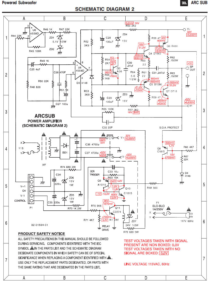 Sub Box Wiring Diagram - Wiring Diagrams Jbl Subwoofer Wiring Diagram on