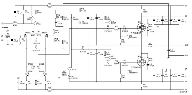 200W class D amplifier schematics free electronic circuits
