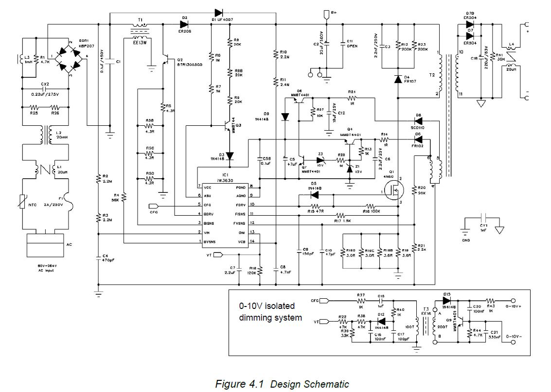 AC 230V LED Driver Dimmer circuit diagram 0-10V or ...
