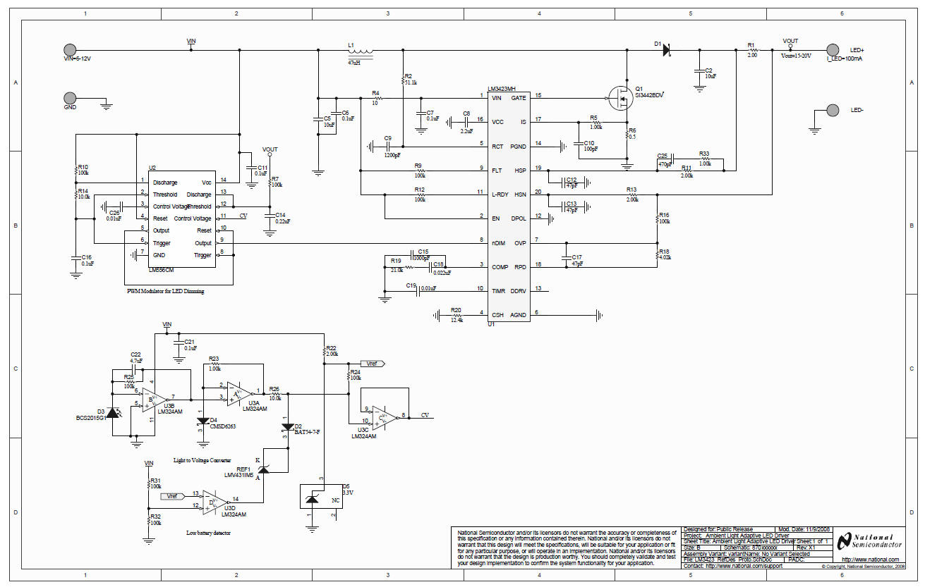 Circuit Diagram Led Ambient Light Driver The Adaptive Automatically Adjusts Display Brightness For Changing Conditions Providing A More