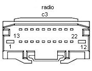 chrysler car radio stereo audio wiring diagram autoradio connector chrysler car radio stereo audio wiring diagram autoradio connector wire installation schematic schema esquema de conexiones stecker konektor connecteur