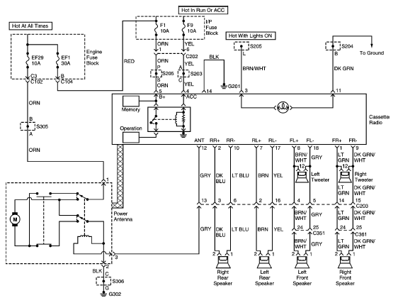 DAEWOO Car Radio Stereo Audio    Wiring       Diagram    Autoradio connector wire installation schematic