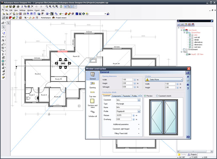 Plattegrond programma software gratis te downloaden for Home blueprint maker