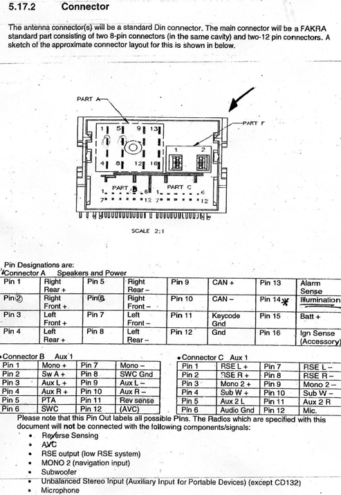Ford Cd Wiring Connector on 1996 ford f 150 radio wiring diagram