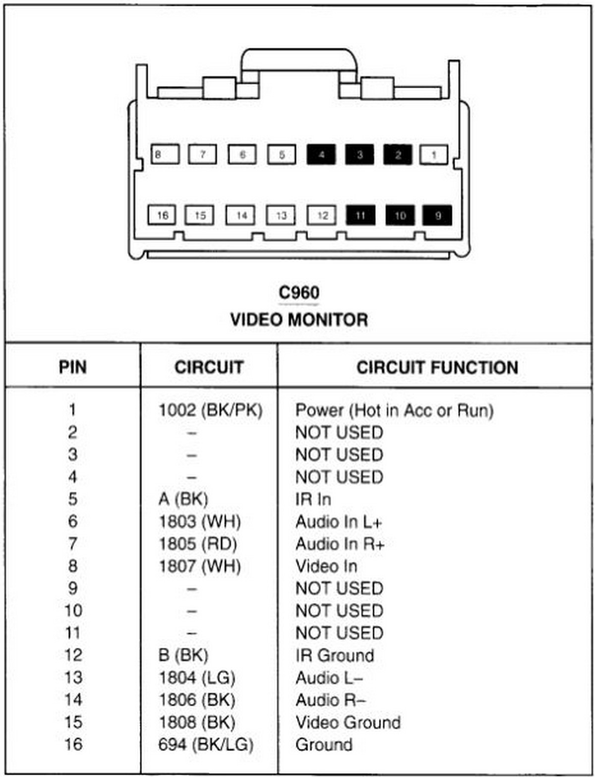 Ford Car Radio Stereo Audio Wiring Diagram Autoradio Connector Wire 1997 Cougar Headlight Installation Schematic Schema Esquema De Conexiones Stecker Konektor Connecteur Cable
